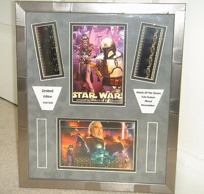 star wars collectable film cell ltd edition 246/300 signed