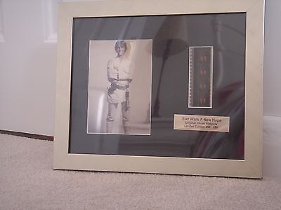 star wars collectable film cell. A new Hope. ltd edition