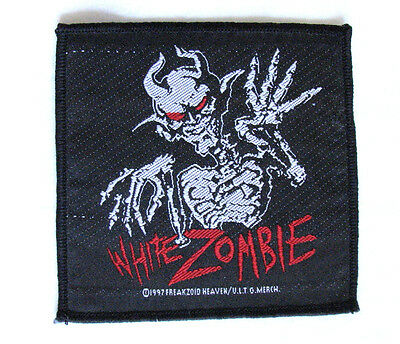 Authentic 1997 WHITE ZOMBIE Patch - Official Woven Rob Misfits RATM Ministry