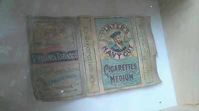 Vintage players cigarette packet in box frame