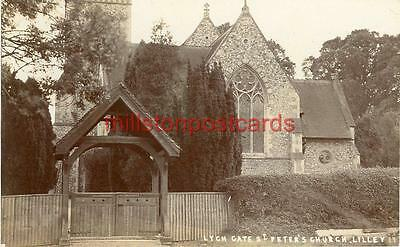 Real Photographic Postcard St Peters Church Lilley (Near Hitchin), Hertfordshire