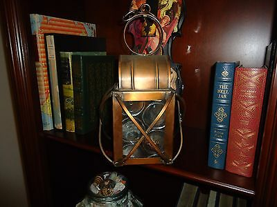 Vintage Antique Colonial Farm House Copper Lantern Colonial Light #1