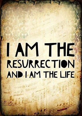 Stone Roses I Am The Resurrection Poster Music Lyrics A4 Quote Print Typography