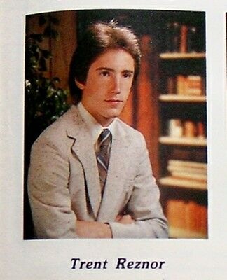 TRENT REZNOR Nine Inch Nails NIN 1983 High School Yearbook - Extremely RARE!!