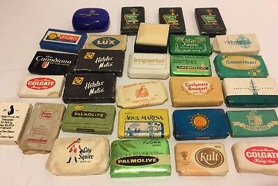 29 Vintage Assorted Hotel / Motel Soap Sample Bars With Original Wrappers