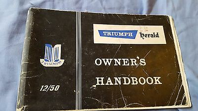 Triumph Herald operations safety maintenance owners manual