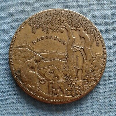 1821 Napoleon Commemorative Brass Medal