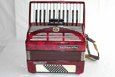 Piano accordion akkordeon WELTMEISTER SEPERATO STANDARD 48 bass