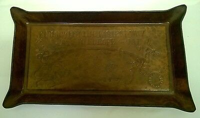 Unusual Leather Serving Tray - JAL Japan Air Lines