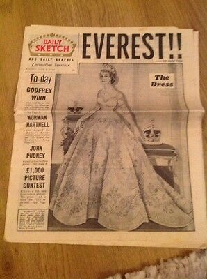 Daily Sketch June 6th 1953 - Everest And Coronation