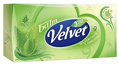 Velvet Classic Balm Three Ply Facial Tissues (Pack Of 4, Total 320 Tissues)