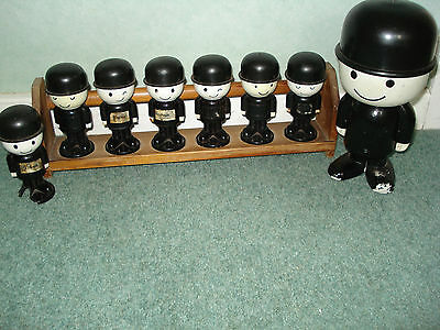 homepride fred and men on wooden spice rack x 8
