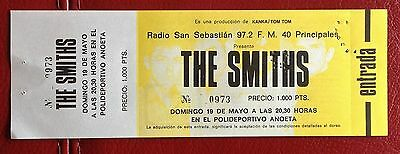 The Smiths / Morrissey -   Unused Concert Ticket Stub - Meat Is Murder Tour