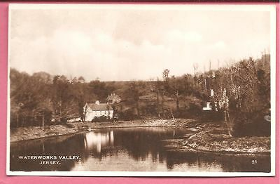 Waterworks Valley, Jersey postcard. Excel Series. Real Photo.
