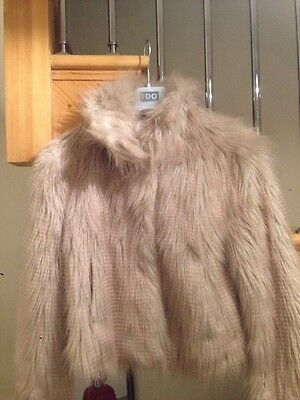 Next Girl's Designer Faux Fur Coat Jacket 11-12yrs