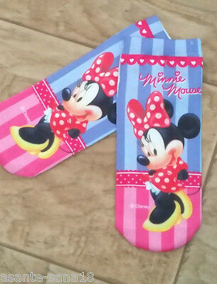 MINNIE MOUSE Trainer SOCKS; UK 3-7,Eu 35-40 1pr 3D Digital Photo Picture UK SALE