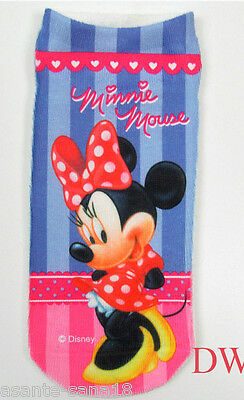 MINNIE MOUSE Cartoon Trainer SOCKS; UK 3-7, Eu 35-40 1pair 3D Digital Photo. UK