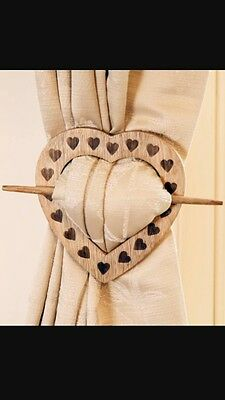 Pair Of Wooden Curtain Tie Backs