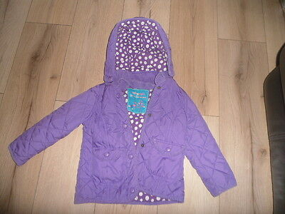 Girls Purple M & S Autograph Quilted hooded Coat 3-4 years