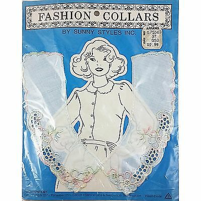 Multi Color Floral Fashion Collar Sunny Styles Vintage Venice Lace Net c2040