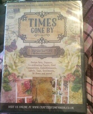 Reduced*** Times Gone By Cd-Rom Paper Crafting Collection By Crafters Companion