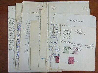 Syria Damascus Gov 20 Documents With Hedjaz Railway Aid Revenue Stamps & Adpo