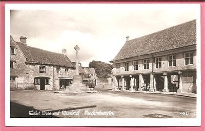 Market House and Memorial, Minchinhampton, Gloucestershire postcard. Real Photo.