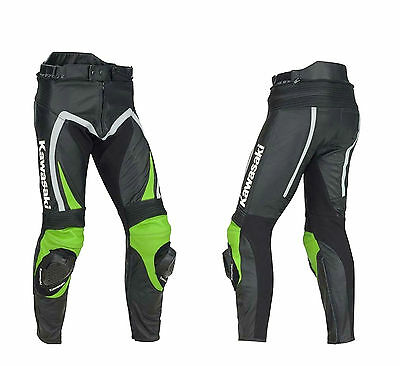 KAWASAKI Moto gp Motorcycle Leather Trouser Motorbike Leather Pant CE Armoured