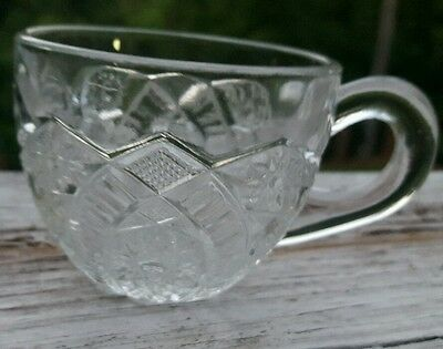 Punch Bowl Cups Vintage Diamond Pattern