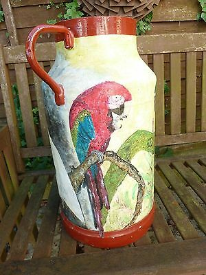 Vintage French Aluminium Milk Churn Painted
