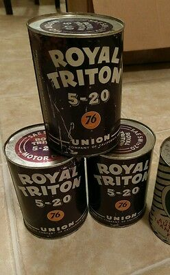 Vintage Royal Triton 76 Motor Oil Metal Can 1quart 1 CAN ONLY