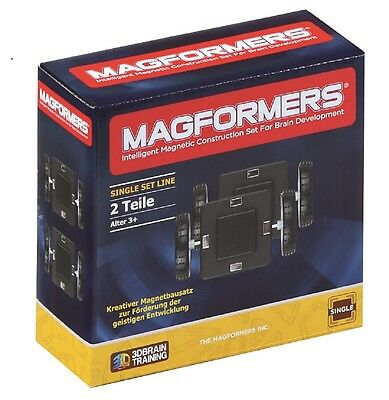 Magformers – Wheels with base plate Set 2 Magnet Construction material (274-10)