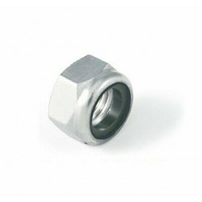 M8 Thin type nylon insert lock nut Nyloc Type. A4 stainless steel DIN985