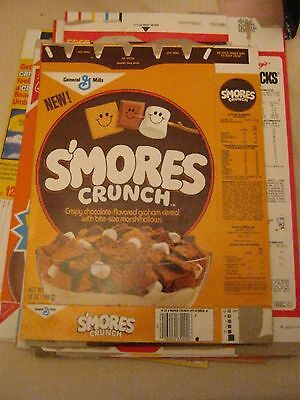 SMORES Crunch Cereal Box early 1980's SERIES 1 - NEW FIRST BOX !! vintage old !