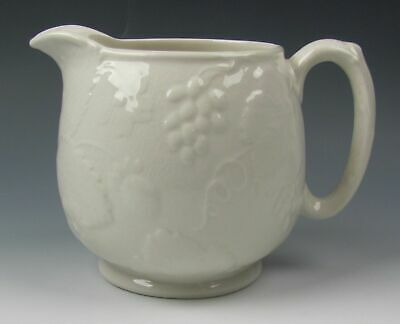 Burgess & Leigh China STRAWBERRY AND GRAPE LEAF WHITE 24 Ounce Jug VERY GOOD