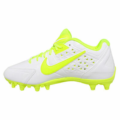 New Nike Women's Speedlax 4 LE Lacrosse Cleats 624976 170 White Volt Size 11