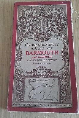 Ordnance Survey map Barmouth and District vintage 1910