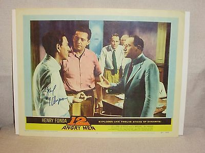 Vintage 12 Angry Men Lobby Card Signed Jack Klugman