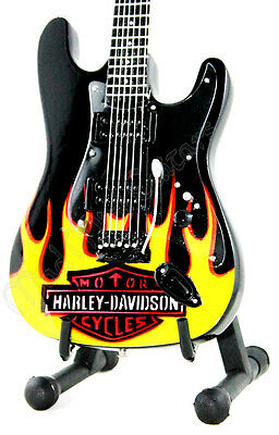 HARLEY DAVIDSON miniature guitar includes a stand