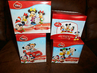 Disney Department 56 Mickey Minnie's Christmas Village Lot of 4 $139.96 NEW!