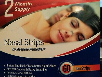 Nasal Strips Large 60 Strips Stop Snoring Device 2 Month's Supply Breathe Help