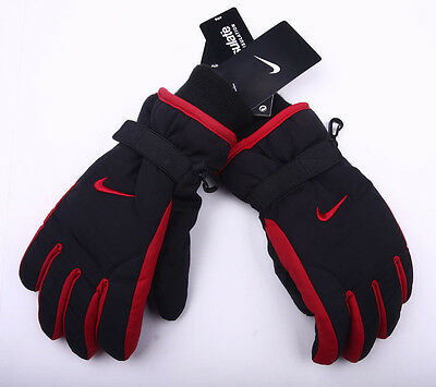 YOUTH Nike Boys Winter Snow Ski Insulated Gloves size 8/20 black/red $28