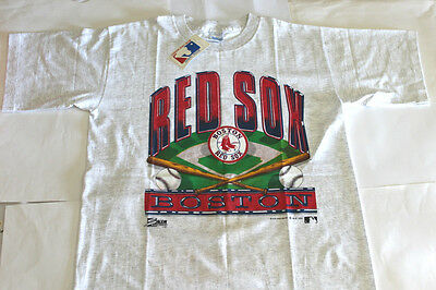 Vintage Boston Red Sox Baseball T-Shirt 1990 Official MLB Product + Tags Size L