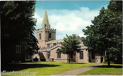 Mansfield, St. Peter's Church, colour postcard, unposted
