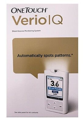 OneTouch Verio IQ Blood Glucose Monitor Meter mmol AU *Colour* Rechargable*