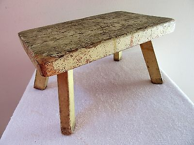 Vintage Wood Milking Stool Farm Primitive Footstool Country Cabin Bench  Foot