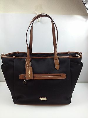 Coach Sawyer Canvas Multifunction Baby Diaper Bag F37758 Black New with tags