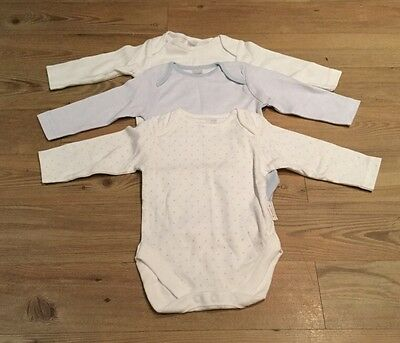 Next Baby Boys BNWOT Long Sleeve Vests 3-6 Months