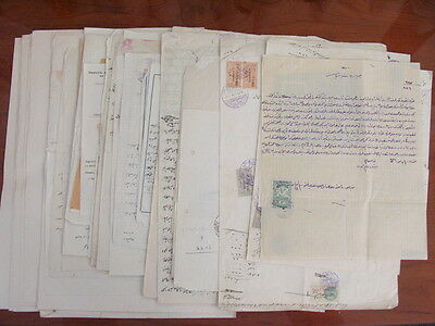 Syria French Occupation Large Collection Of 57 Documents & 219 Revenue Stamps