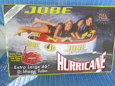 """Jobe Hurricane  Inflatable Water 66"""" X-large D-Sh 2 Rider Boat Tow Towable"""